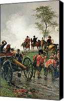 Wellington Painting Canvas Prints - Wellington at Waterloo Canvas Print by Ernest Crofts