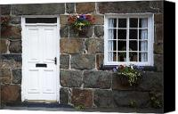 Old Wall Canvas Prints - Welsh cottage detail Canvas Print by Jane Rix