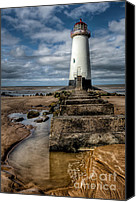 Wales Digital Art Canvas Prints - Welsh Lighthouse  Canvas Print by Adrian Evans