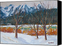 White River Scene Canvas Prints - Wenatchee Winter Canvas Print by James Geddes
