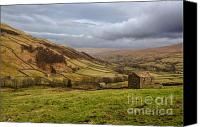Farming Barns Canvas Prints - Wensleydale Canvas Print by John D Hare