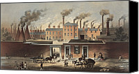Ironworks Canvas Prints - Wentworth Works, File And Steel Canvas Print by Everett