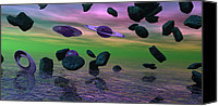 Alien Planets Canvas Prints - Were Out Of Here Canvas Print by Wayne Bonney