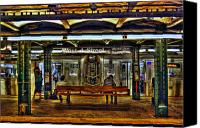 Greenwich Canvas Prints - West 4th Street Subway Canvas Print by Randy Aveille