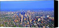 Philadelphia Skyline Canvas Prints - West Philadelphia Center City Skyline Canvas Print by Duncan Pearson