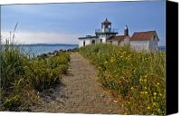 Puget Sound Canvas Prints - West Point Lighthouse Canvas Print by Michael Gass