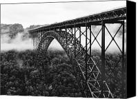 Metal Canvas Prints - West Virginia - New River Gorge Bridge Canvas Print by Brendan Reals