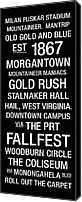 Team Canvas Prints - West Virginia College Town Wall Art Canvas Print by Replay Photos