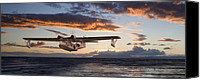 Warbird Canvas Prints - Westering Home Canvas Print by Pat Speirs