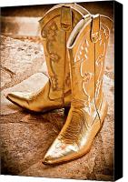 Gold Lame Canvas Prints - Western Wear Canvas Print by Jill Smith