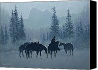 Four Corners Canvas Prints - Western Winter Canvas Print by Randy Follis