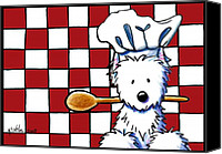 Westie Canvas Prints - Westie Chef Canvas Print by Kim Niles