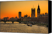 Building Canvas Prints - Westminster & Big Ben London Canvas Print by Photos By Steve Horsley