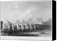 River Transportation Canvas Prints - Westminster Bridge, 1852 Canvas Print by Granger