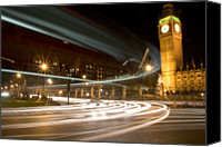 Long Street Canvas Prints - Westminster Lights Canvas Print by Copyright Michael Spry