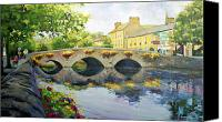 Old Houses Canvas Prints - Westport Bridge County Mayo Canvas Print by Conor McGuire