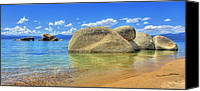 Whale Photo Canvas Prints - Whale Beach Lake Tahoe Canvas Print by Brad Scott