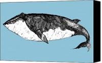 Whale Canvas Prints - Whale Canvas Print by Michael De Alba