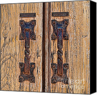 Door Handles Canvas Prints - What A Pair Canvas Print by Sandra Bronstein