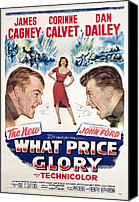 1950s Poster Art Canvas Prints - What Price Glory, James Cagney, Corinne Canvas Print by Everett