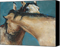Wild Horses Canvas Prints - What We Can All Use A Little Of  Canvas Print by Frances Marino