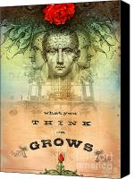 Featured Canvas Prints - What You Think on Grows Canvas Print by Silas Toball
