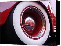 Red Car Canvas Prints - Wheel Reflection Canvas Print by Carol Milisen