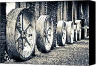 High Wheel Canvas Prints - Wheels Canvas Print by Niels Nielsen