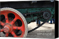 Old Trucks Canvas Prints - Wheels of Steam Powered Truck 7d15103 Canvas Print by Wingsdomain Art and Photography