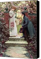 Engagement Canvas Prints - When All the World Seemed Young Canvas Print by Howard Pyle