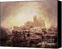Indian Ruins Canvas Prints - When Dogs Could Talk Canvas Print by Arne Hansen
