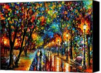 Couple Painting Canvas Prints - When Dreams Come True  Canvas Print by Leonid Afremov