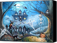 Haunted House Canvas Prints - When October Comes Canvas Print by Shana Rowe