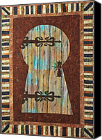 Wall Art Tapestries - Textiles Canvas Prints - When One Door Closes Another One Opens Canvas Print by Patty Caldwell