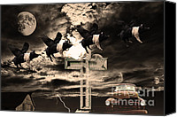 Apocalypse Canvas Prints - When Pigs Fly Canvas Print by Wingsdomain Art and Photography