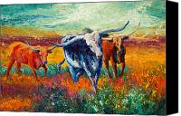 Marion Rose Canvas Prints - When The Cows Come Home Canvas Print by Marion Rose