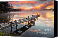 Dam Canvas Prints - When the fishermen go away Canvas Print by Evgeni Dinev