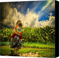 Child Photo Canvas Prints - When The Sun Comes After Rain Canvas Print by Bob Orsillo