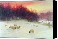 Joseph Farquharson Canvas Prints - When the West with Evening Glows Canvas Print by Joseph Farquharson