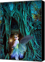 Girl Digital Art Canvas Prints - When Twilight Fades Canvas Print by Jean Hildebrant