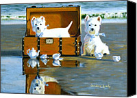 Westies Canvas Prints - Where are the Cookies Canvas Print by Candace Lovely