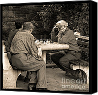 Chess Game Canvas Prints - Where Is Bobby Fischer Canvas Print by Madeline Ellis