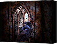Ruin Digital Art Canvas Prints - Where raven reigns Canvas Print by Gun Legler