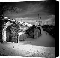 Factory Photo Canvas Prints - Where The Mill Once Stood Canvas Print by Bob Orsillo