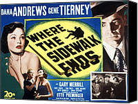 1950 Movies Canvas Prints - Where The Sidewalk Ends, Gene Tierney Canvas Print by Everett