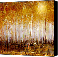 Forest Digital Art Canvas Prints - Where the Sun Shines Canvas Print by Holly Kempe