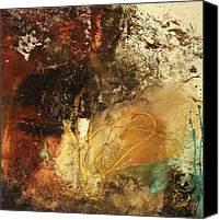 Black  Mixed Media Canvas Prints - Where Theres A Will  Canvas Print by Michel  Keck