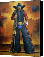 Cowboy Canvas Prints - Wheres My Ride Canvas Print by Lance Headlee
