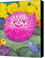 Reef Canvas Prints - Wheres Pinkfish Canvas Print by Catherine G McElroy
