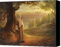 Israel Canvas Prints - Wherever He Leads Me Canvas Print by Greg Olsen